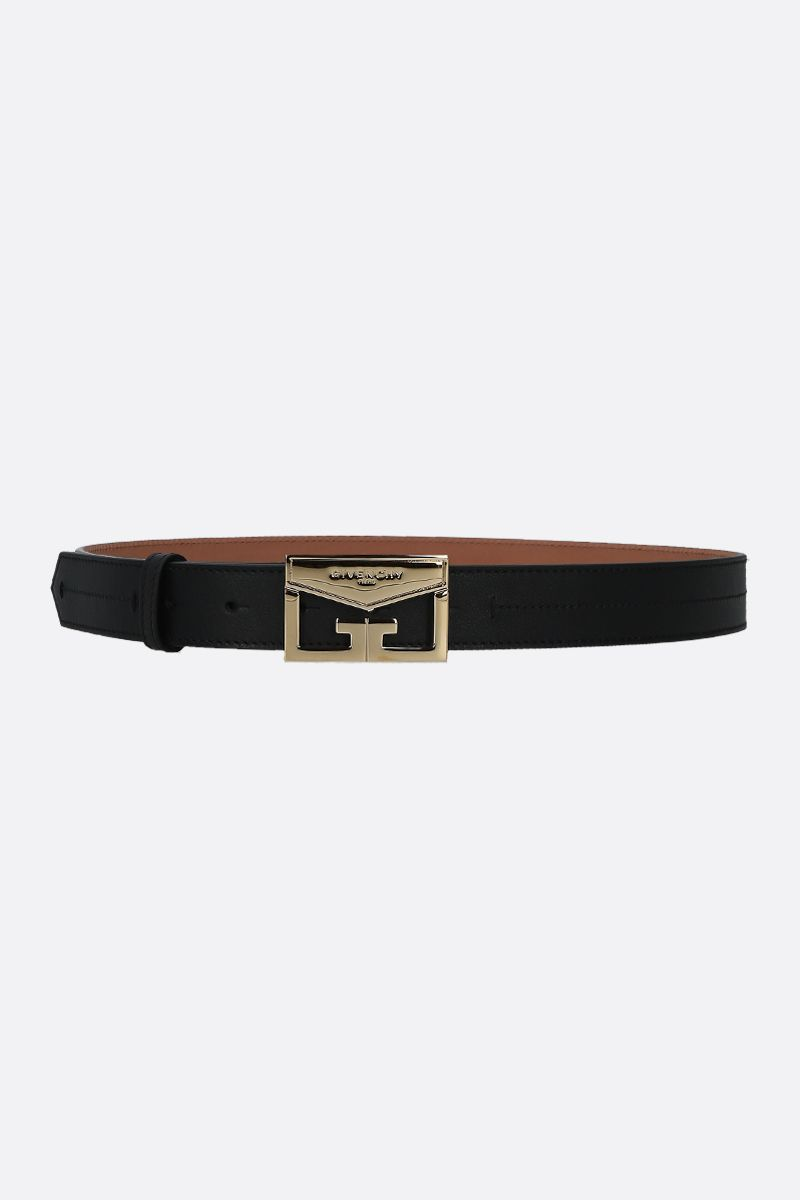 GIVENCHY: Mystic smooth leather belt Color Black_1