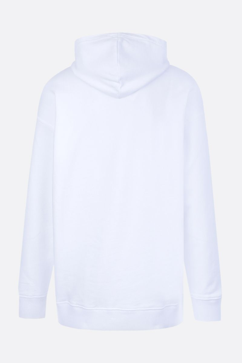 GIVENCHY: Givenchy Label cotton hoodie Color White_2