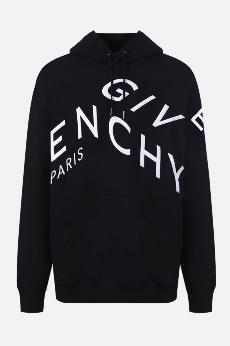 GIVENCHY: Givenchy Refracted cotton hoodie Color Black_1