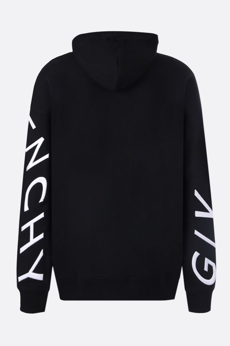 GIVENCHY: Givenchy Refracted cotton hoodie Color Black_2