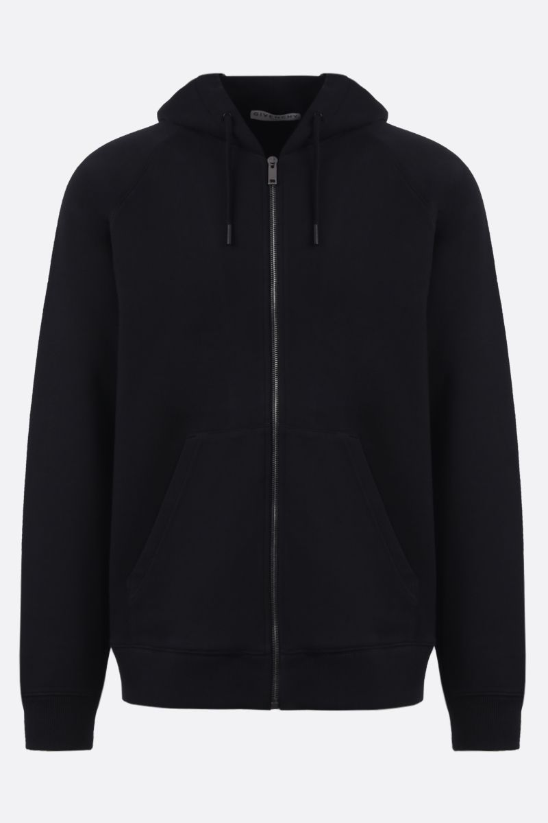 GIVENCHY: felpa full-zip in cotone stampa Givenchy Paris Colore Multicolore_1