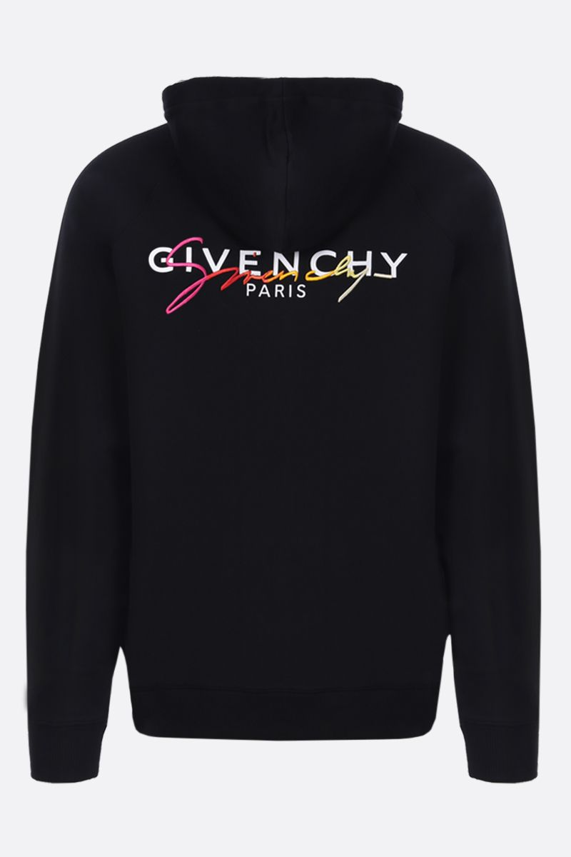GIVENCHY: felpa full-zip in cotone stampa Givenchy Paris Colore Multicolore_2