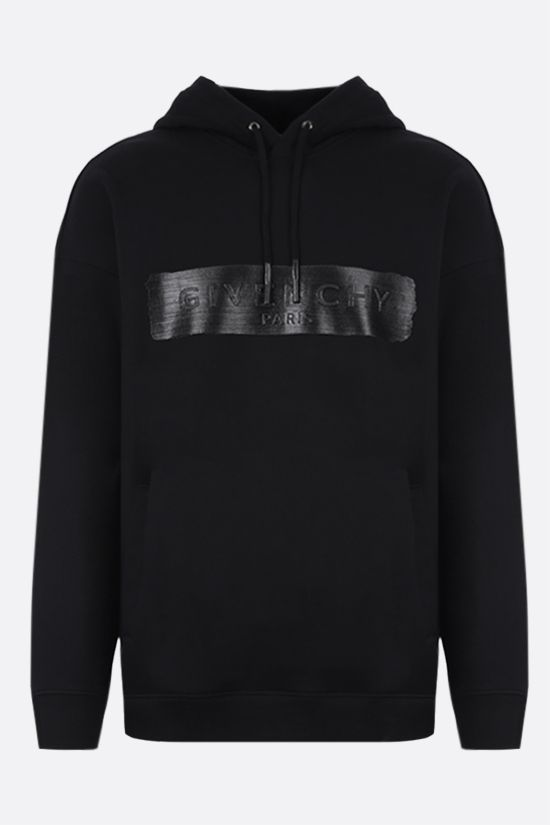 GIVENCHY: Givenchy print cotton hoodie Color Black_1