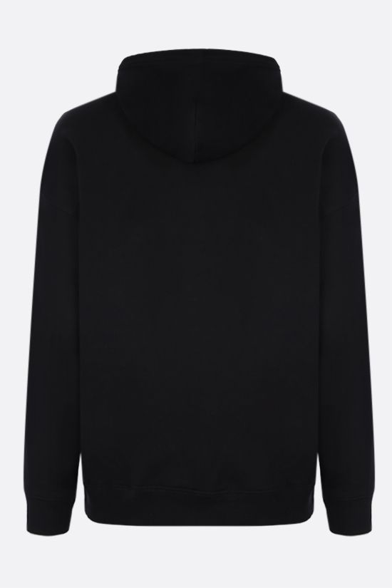 GIVENCHY: Givenchy print cotton hoodie Color Black_2