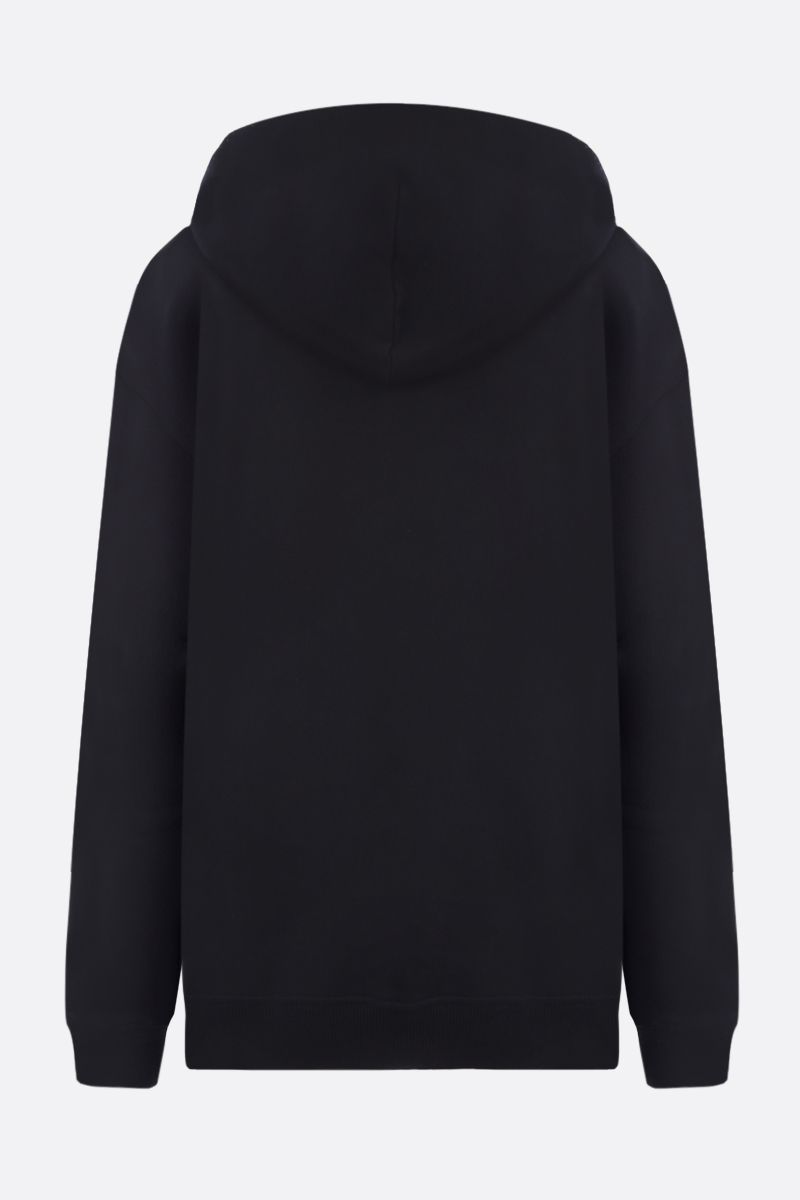 GIVENCHY: Givenchy Paris print cotton hoodie Color Black_2