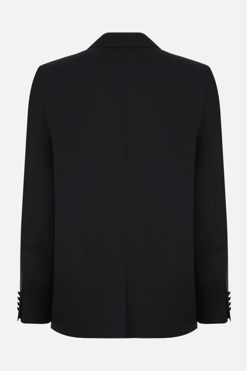 GIVENCHY: contrast-detailed single-breasted wool jacket Color Black_2
