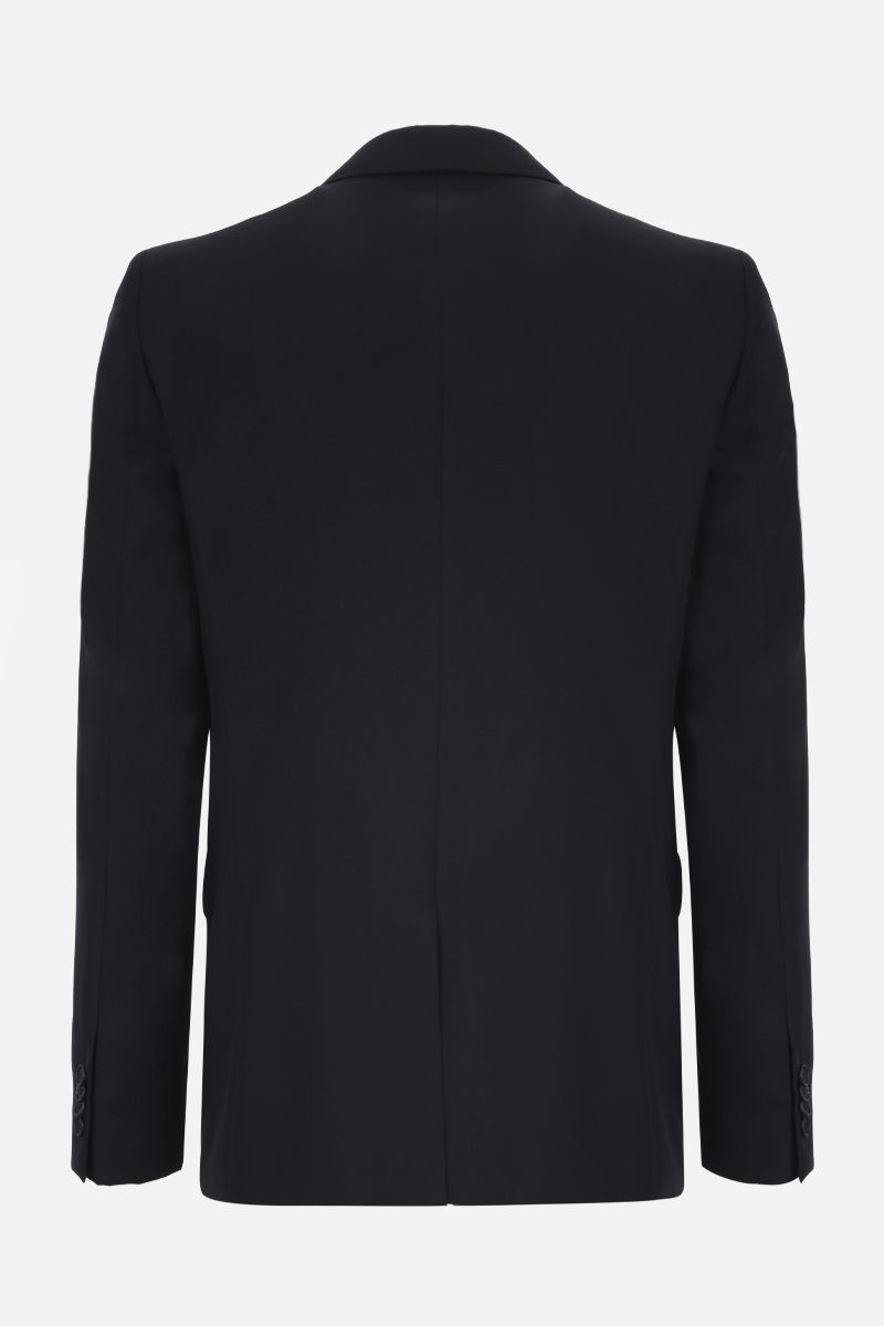 GIVENCHY: logo-detailed wool single-breasted jacket Color Black_2