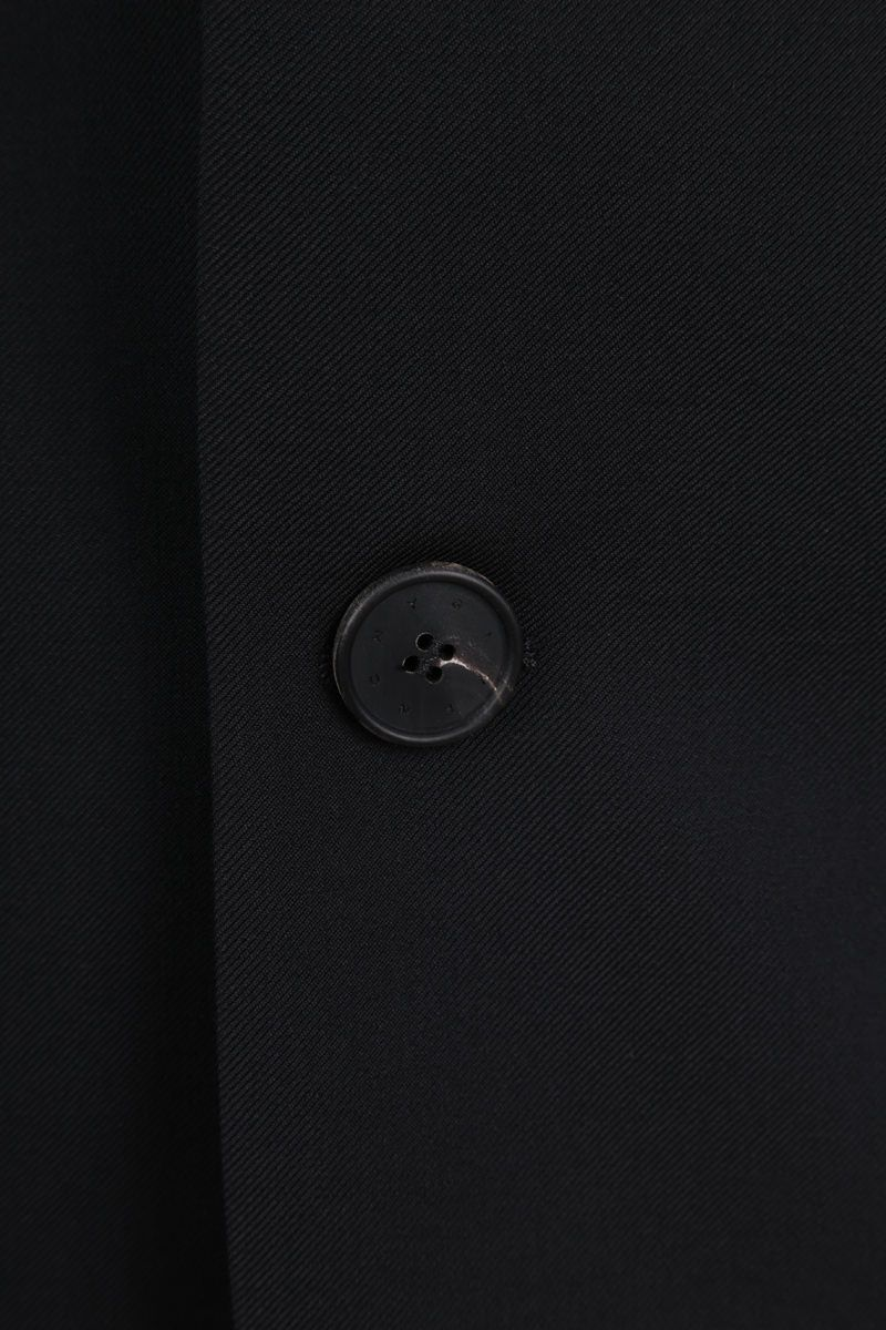 GIVENCHY: logo-detailed wool single-breasted jacket Color Black_4
