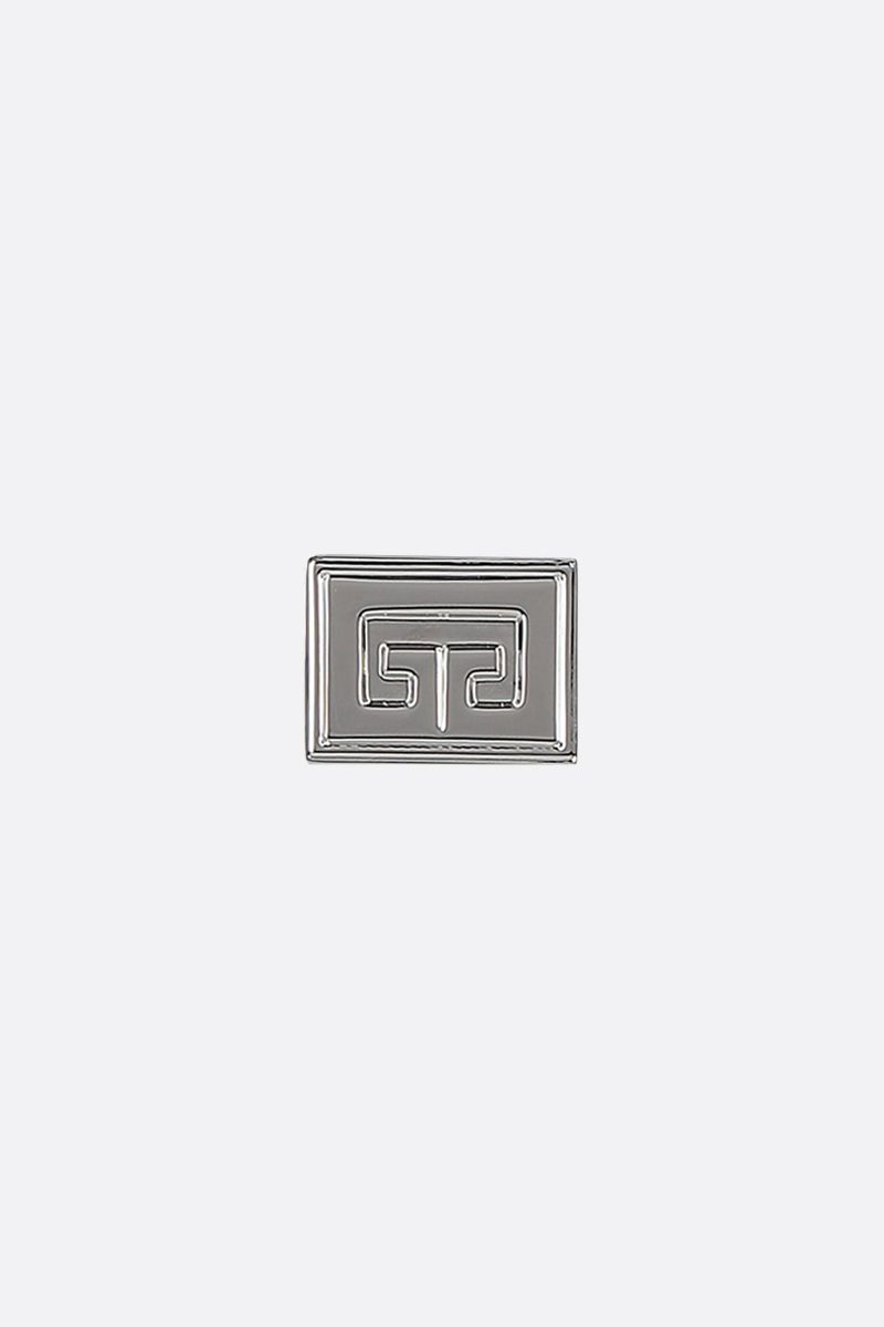 GIVENCHY: 2G brass signet ring Color Silver_1