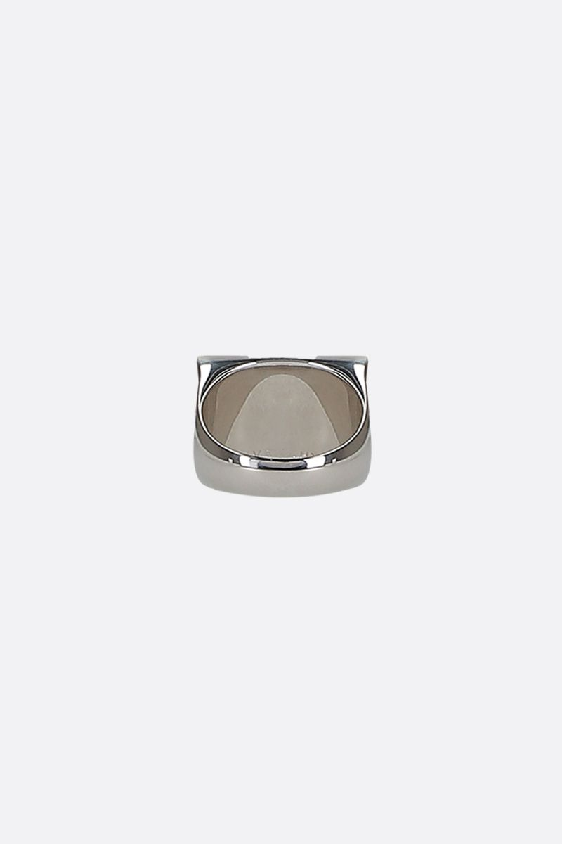 GIVENCHY: 2G brass signet ring Color Silver_2