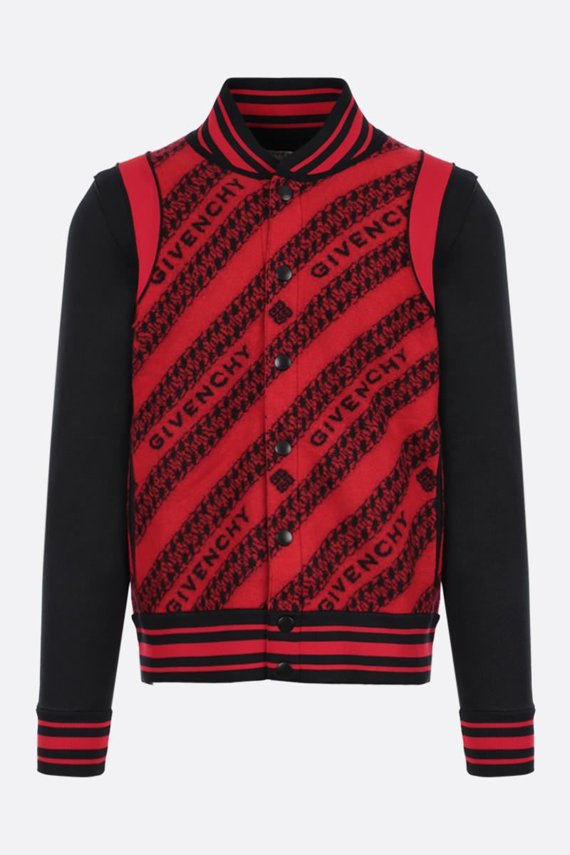 GIVENCHY: GIVENCHY Chaine wool jacquard bomber jacket Color Multicolor_1