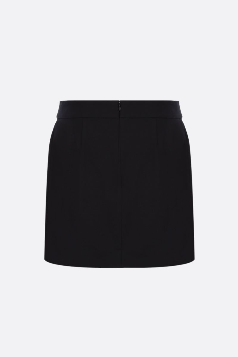 GIVENCHY: 4G button-detailed stretch cady A-line miniskirt Color Black_2