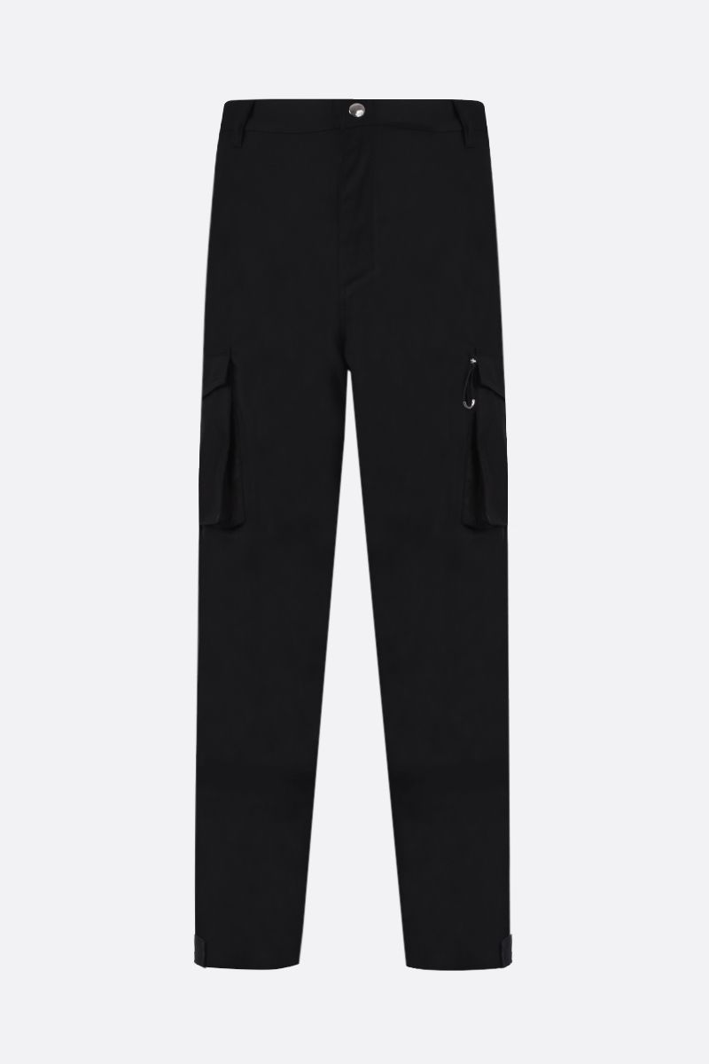 GIVENCHY: pantalone cargo in cotone patch logo Colore Nero_1