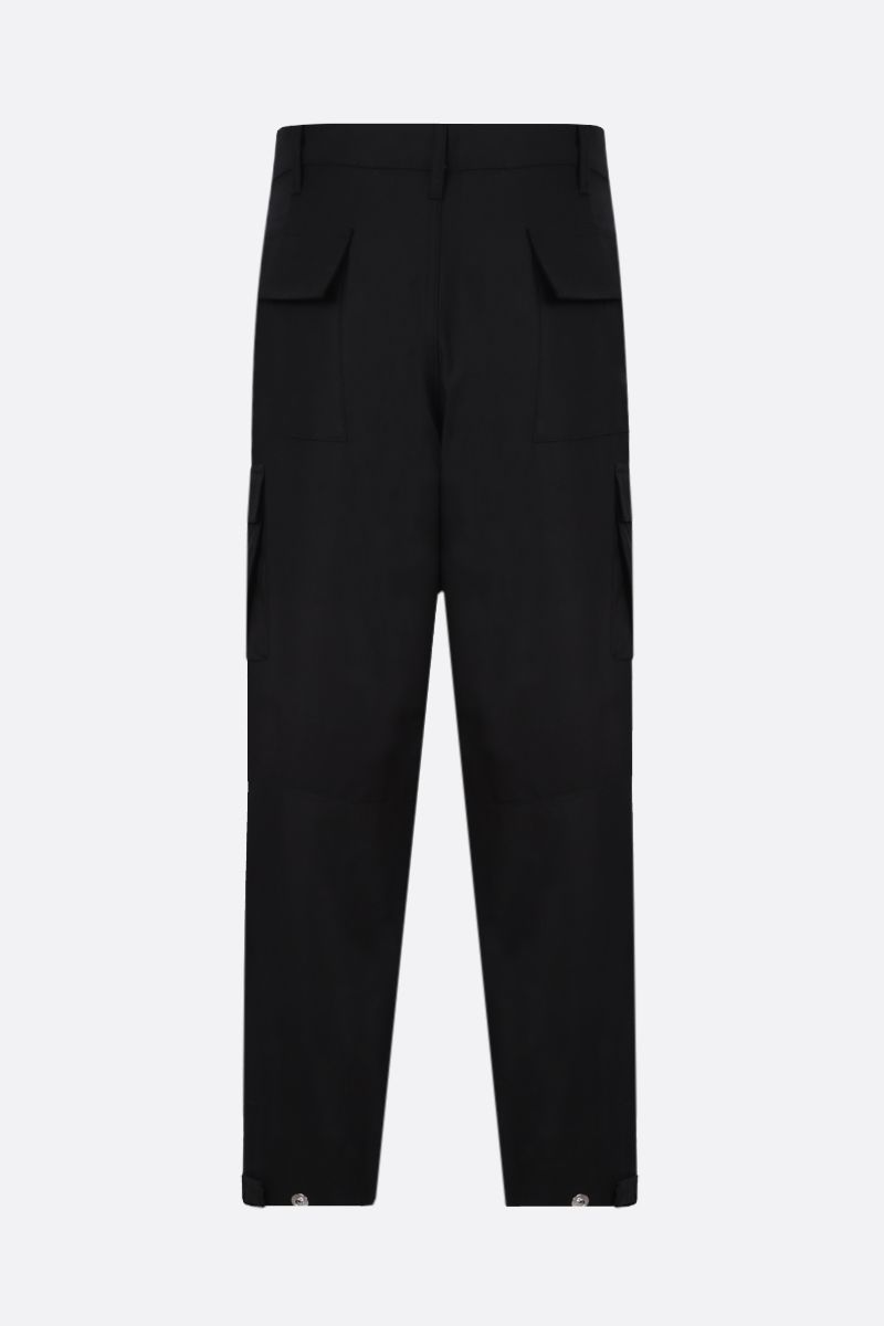 GIVENCHY: logo patch cotton cargo pants Color Black_2