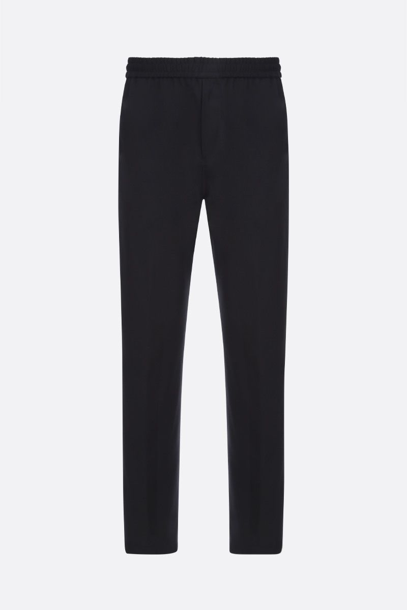 GIVENCHY: pantalone jogging Givenchy Adresse  in lana Colore Nero_1