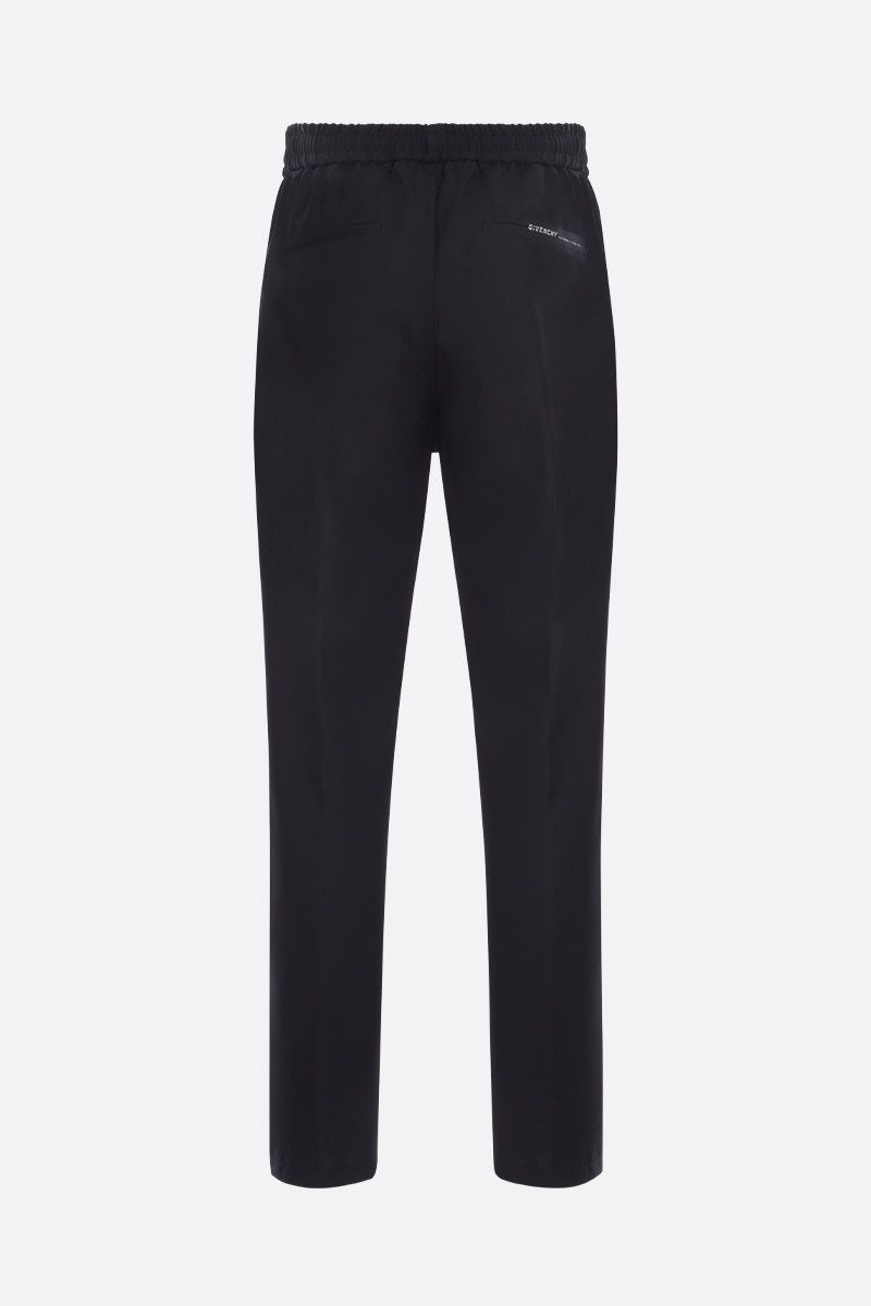 GIVENCHY: Givenchy Adresse wool joggers Color Black_2