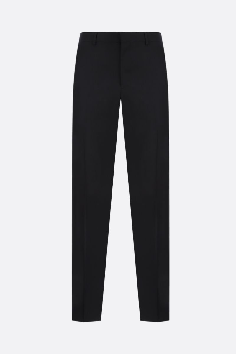 GIVENCHY: 4G-detailed straight-fit wool pants Color Black_1