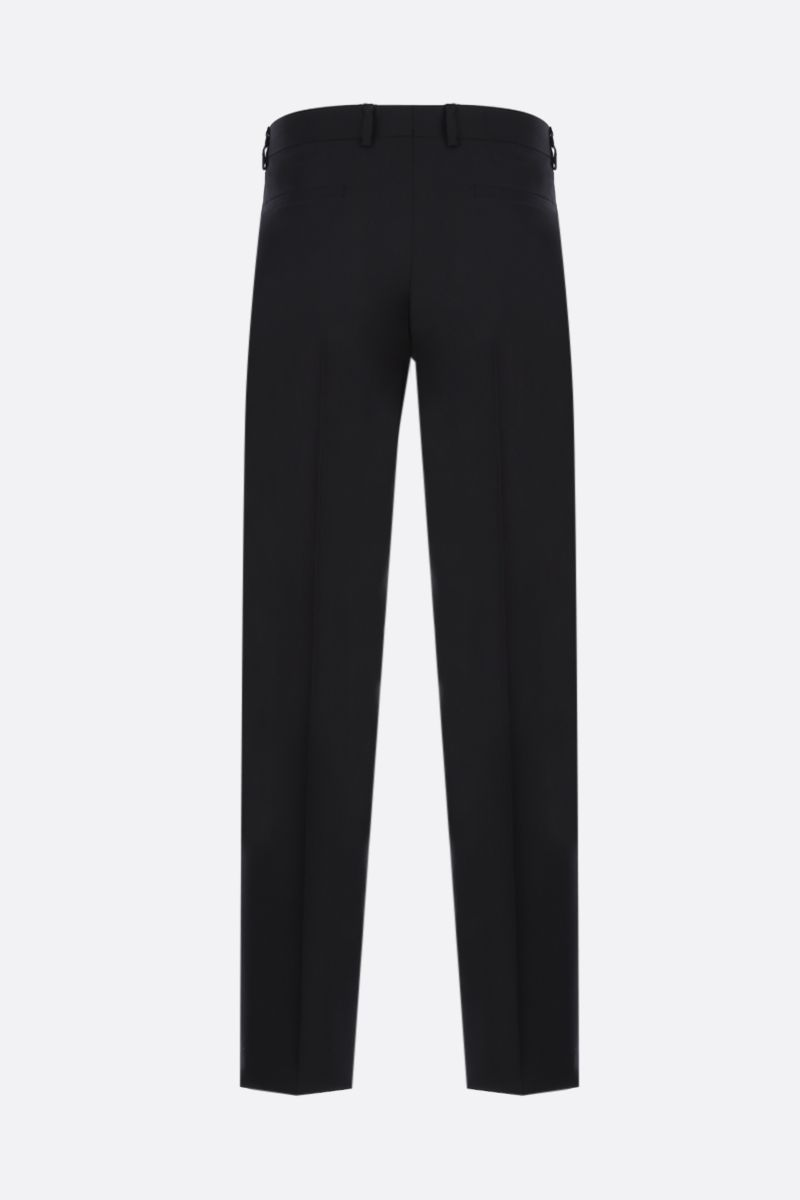 GIVENCHY: 4G-detailed straight-fit wool pants Color Black_2
