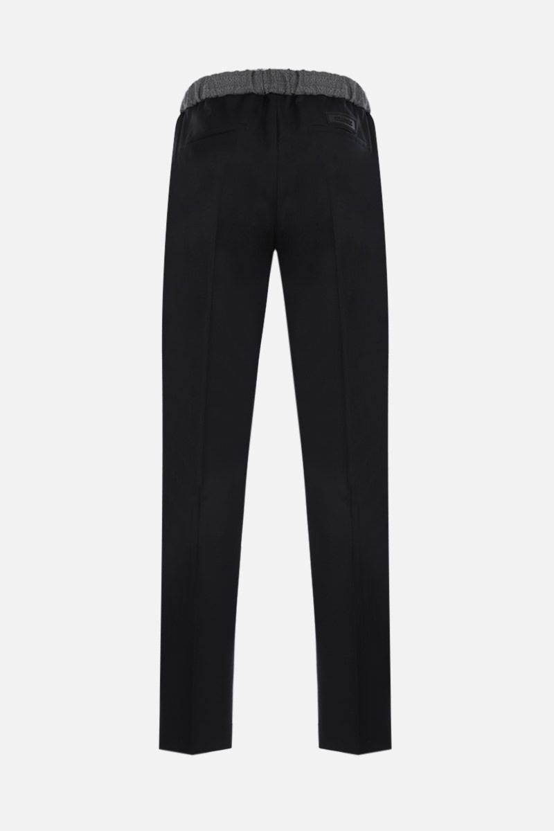 GIVENCHY: slim-fit bicolour wool joggers Color Black_2