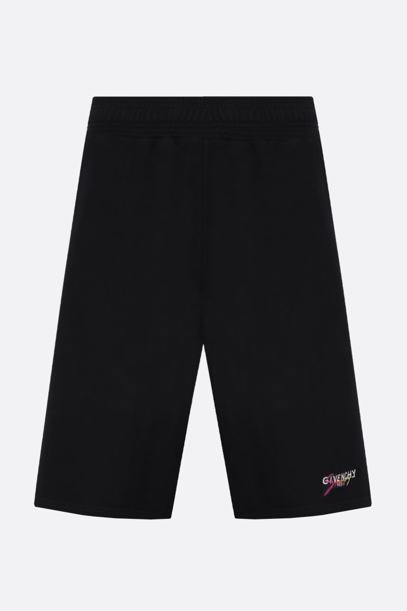 GIVENCHY: Givenchy Paris embroidered cotton shorts Color Multicolor_1