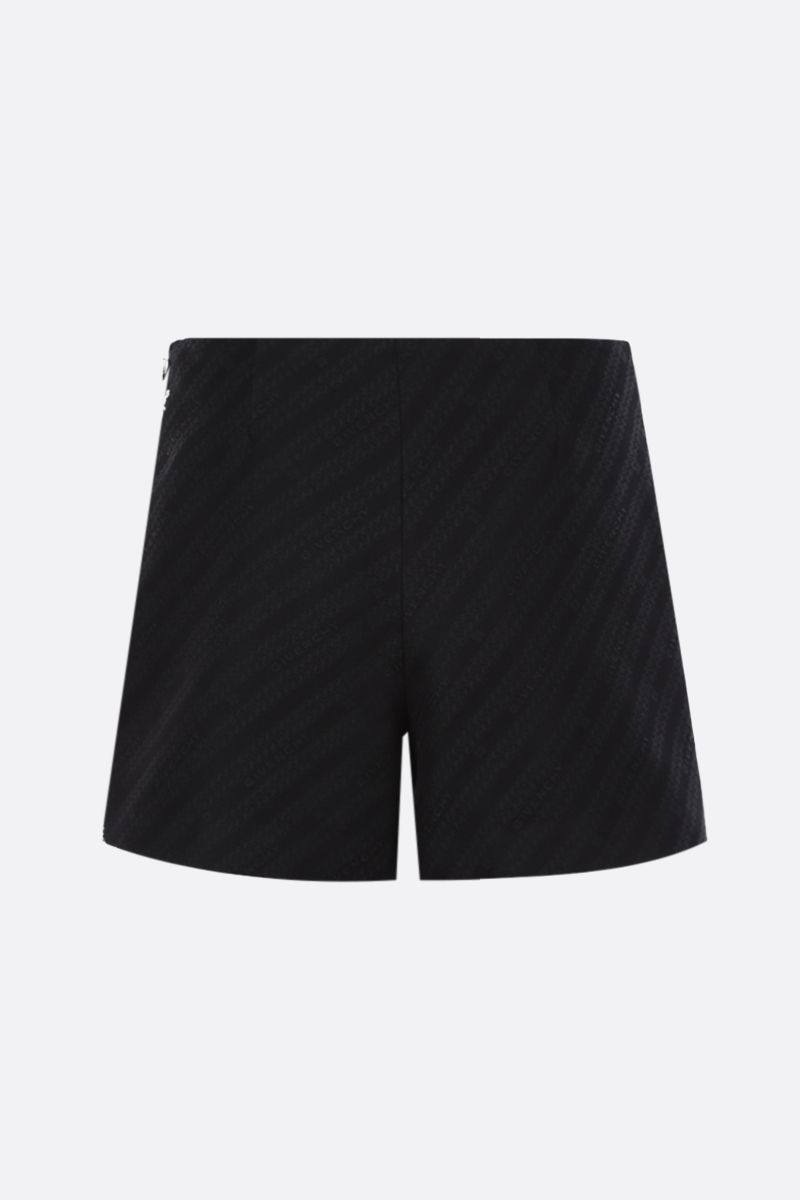 GIVENCHY: pantalone corto in jacquard a motivo Givenchy Chaine Colore Nero_2