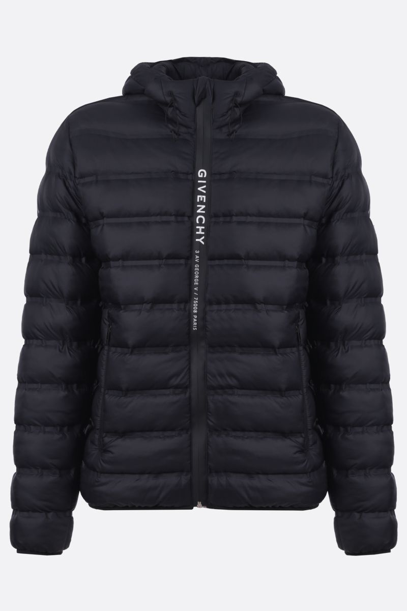 GIVENCHY: Givenchy band nylon padded jacket Color Black_1
