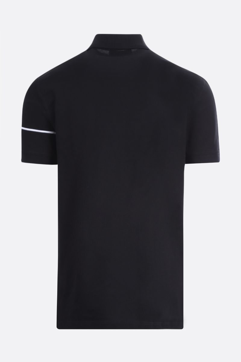GIVENCHY: Givenchy Split embroidered cotton polo shirt Color Black_2