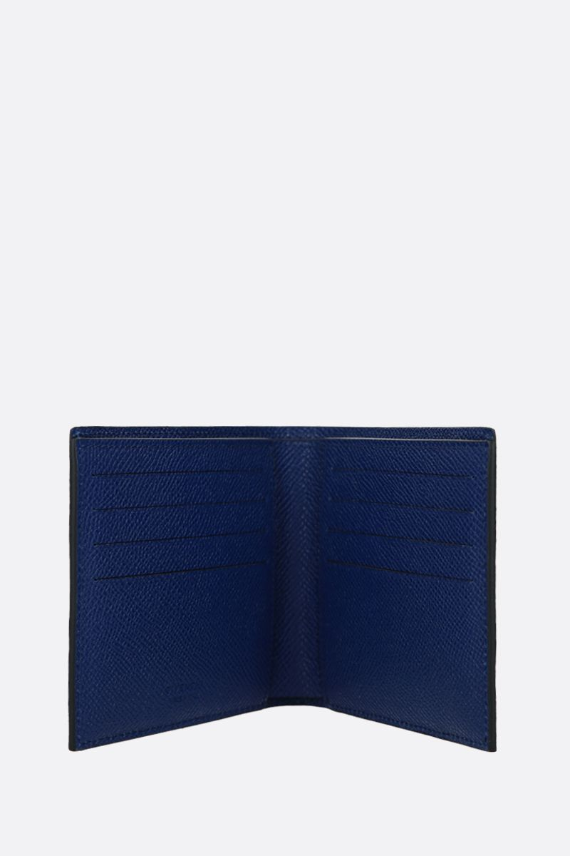 GIVENCHY: Givenchy Paris grainy leather billfold wallet Color Blue_2