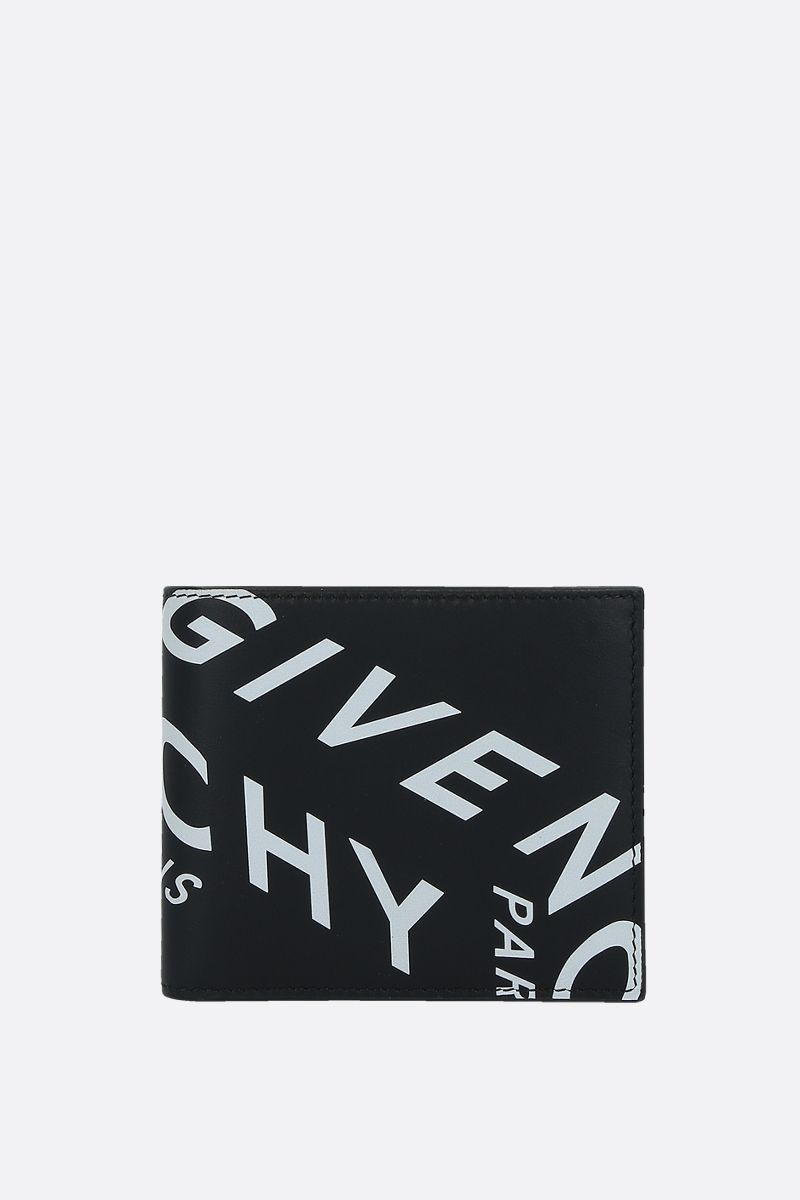 GIVENCHY: portafogli billfold Givenchy Refracted in pelle liscia Colore Nero_1