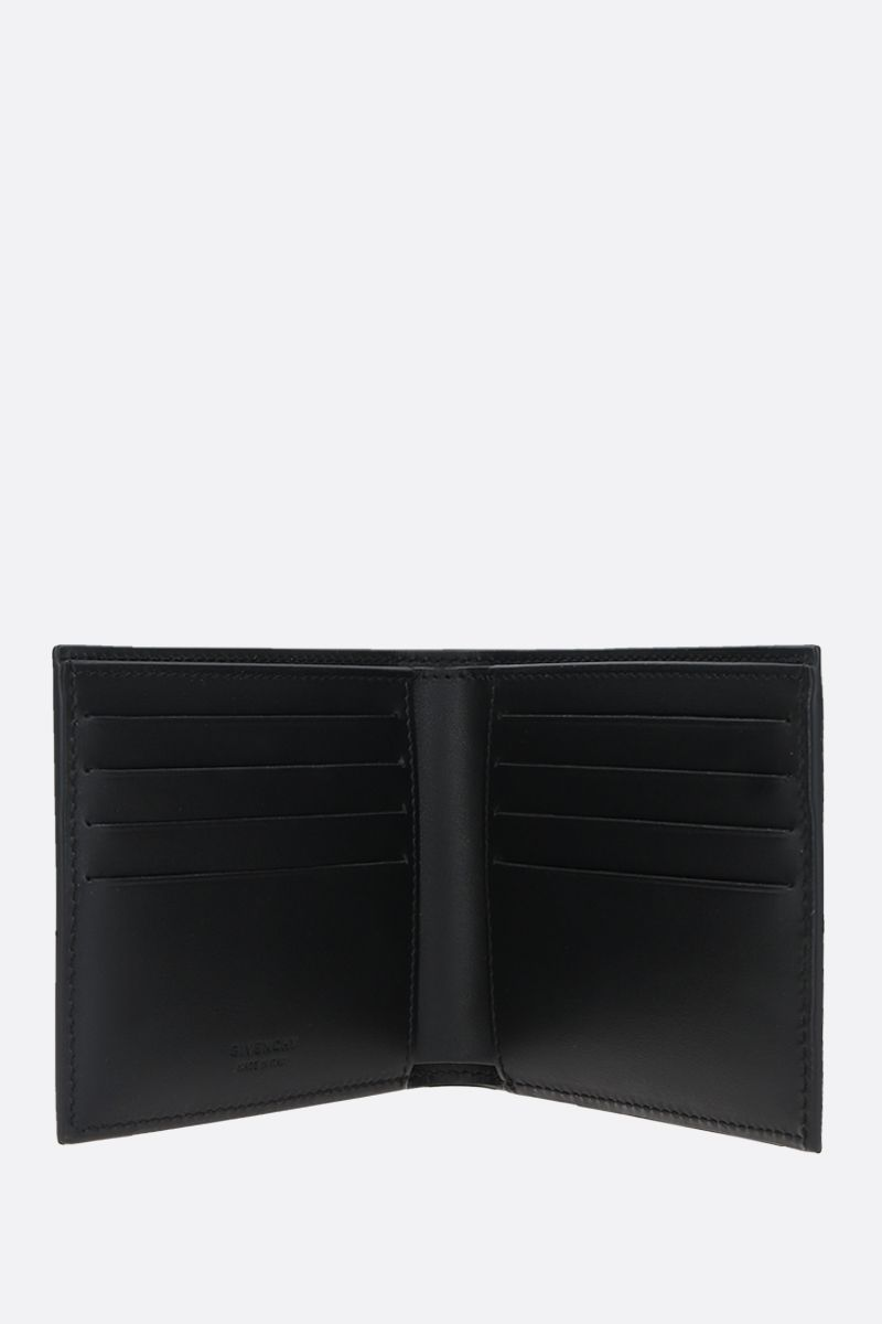 GIVENCHY: Givenchy Refracted smooth leather bilfold wallet Color Black_2