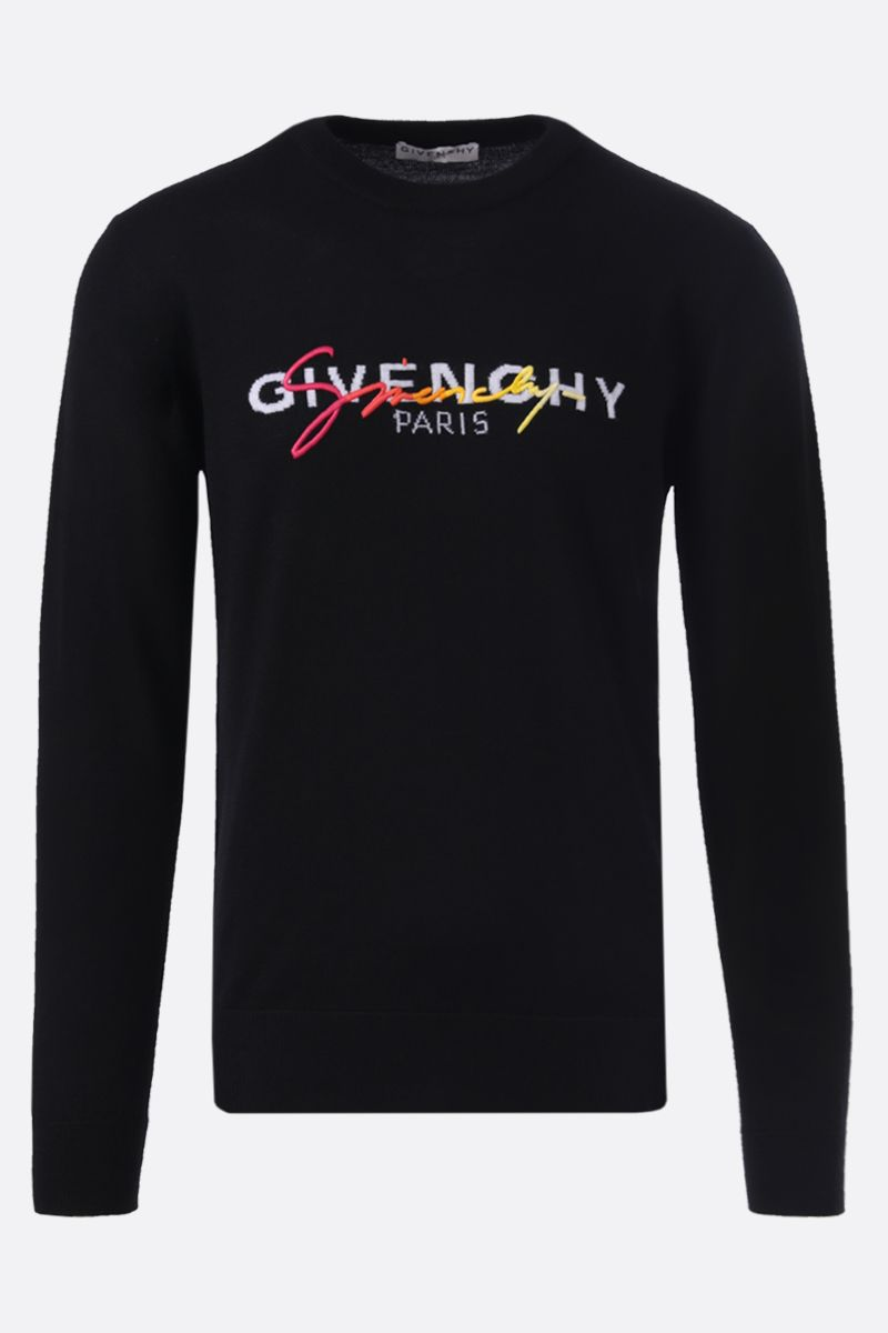 GIVENCHY: pullover in lana intarsio Givenchy Paris Colore Multicolore_1