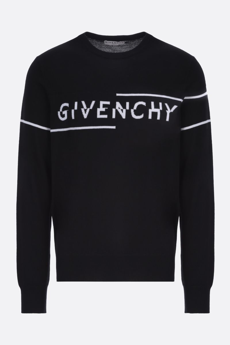 GIVENCHY: Givenchy Split wool pullover Color Black_1