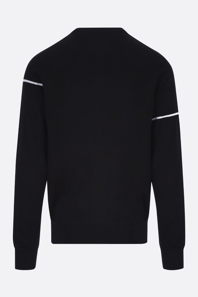 GIVENCHY: Givenchy Split wool pullover Color Black_2