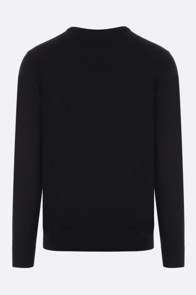 GIVENCHY: pullover in lana intarsio Givenchy Label Colore Nero_2