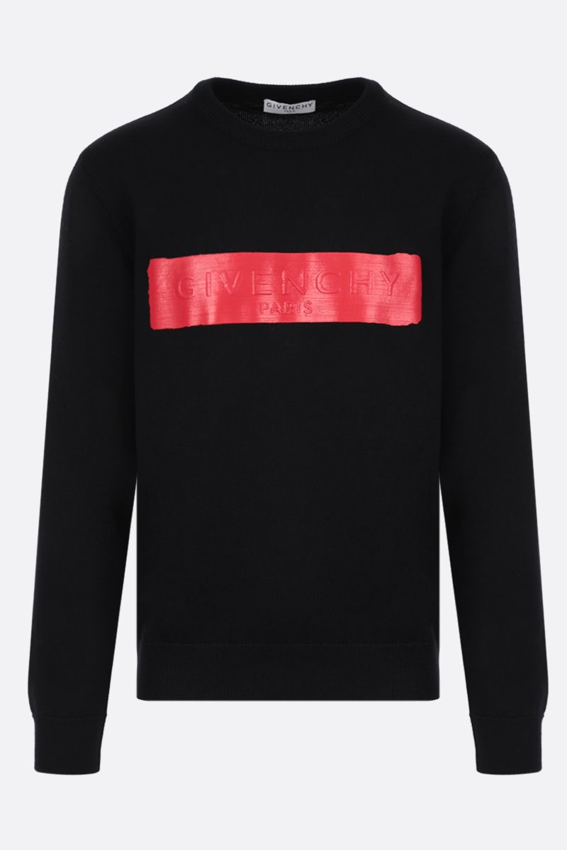 GIVENCHY: Givenchy print wool pullover Color Black_1