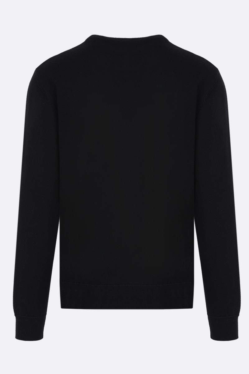 GIVENCHY: Givenchy print wool pullover Color Black_2