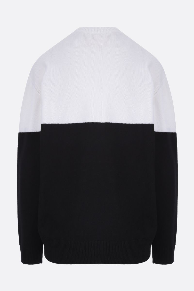 GIVENCHY: pullover oversize in cashmere intarsio Givenchy Paris Colore Nero_2