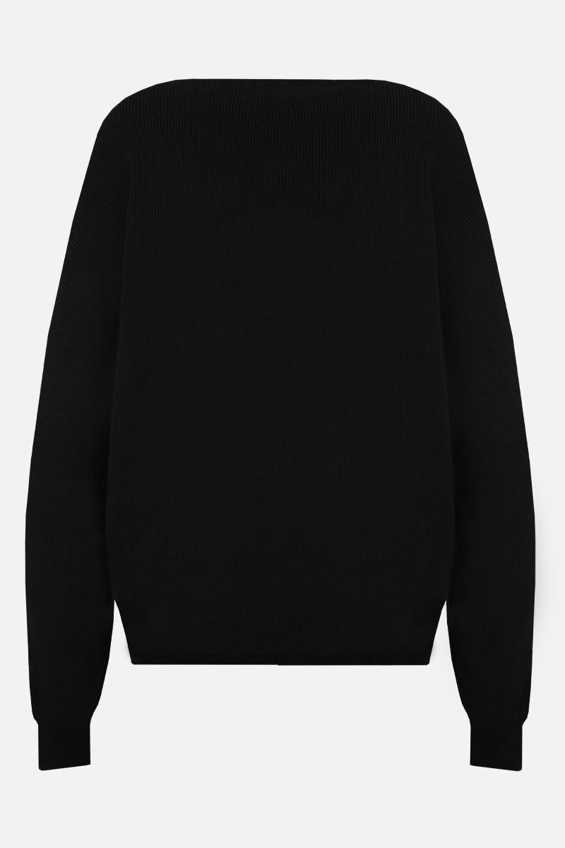 GIVENCHY: Givenchy intarsia wool blend pullover Color Black_2
