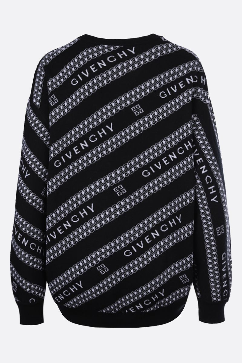 GIVENCHY: Givenchy Chaine oversize wool pullover Color Black_2