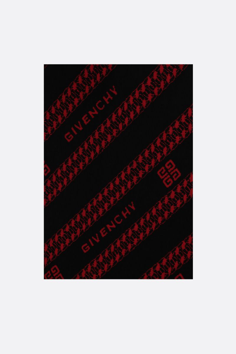 GIVENCHY: Givenchy Chaine jacquard scarf Color Black_1