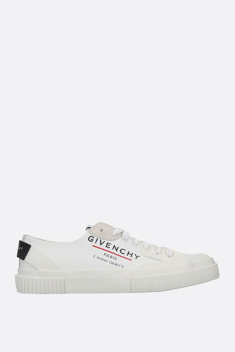 GIVENCHY: Tennis Light canvas sneakers Color White_1