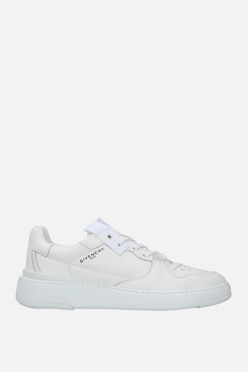 GIVENCHY: sneaker Wing in pelle martellata Colore Bianco_1