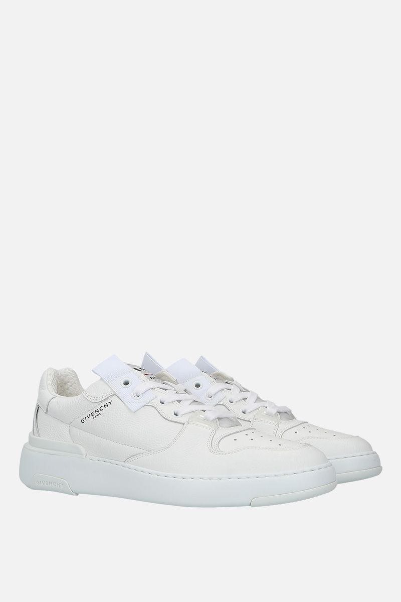 GIVENCHY: Wing grainy leather sneakers Color White_2
