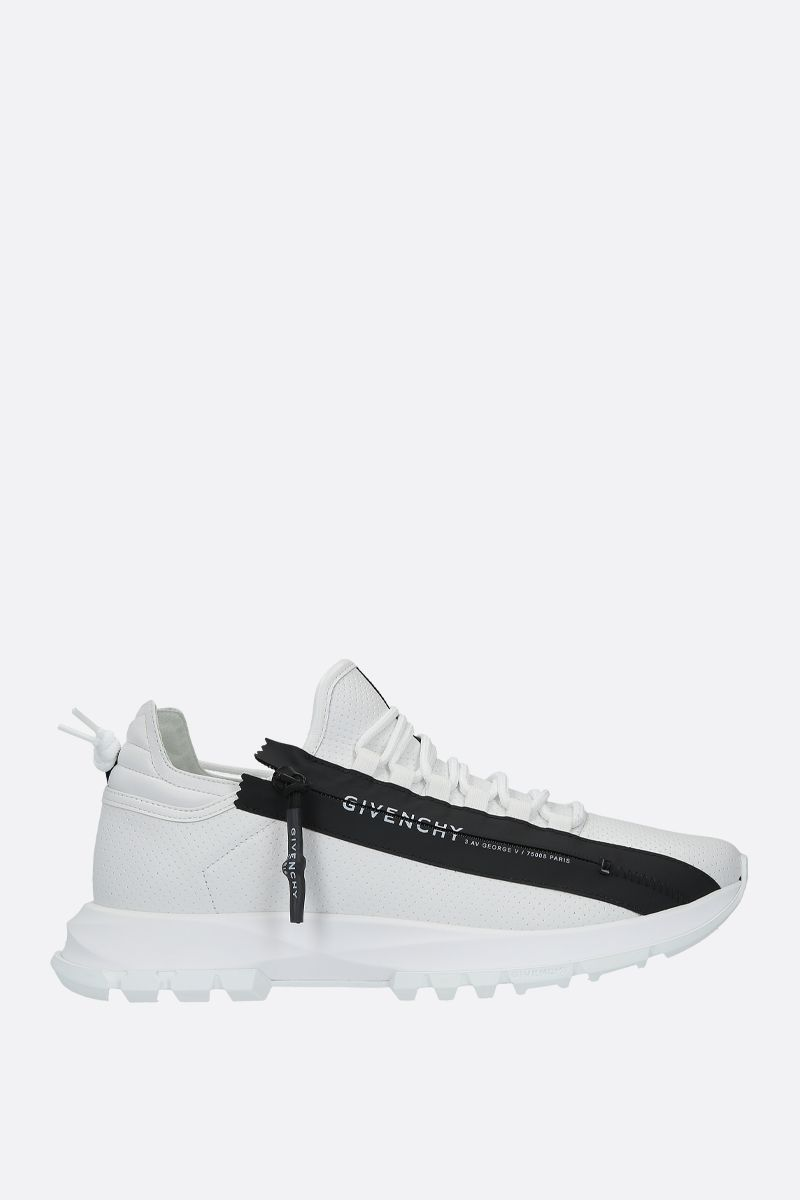 GIVENCHY: Spectre perforated leather sneakers Color Black_1