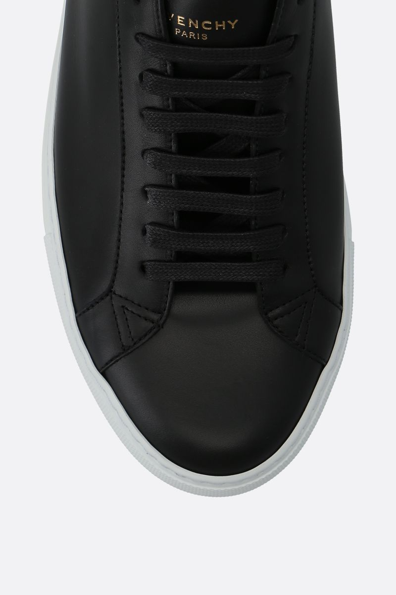 GIVENCHY: sneaker Urban street in pelle liscia Color Black_4