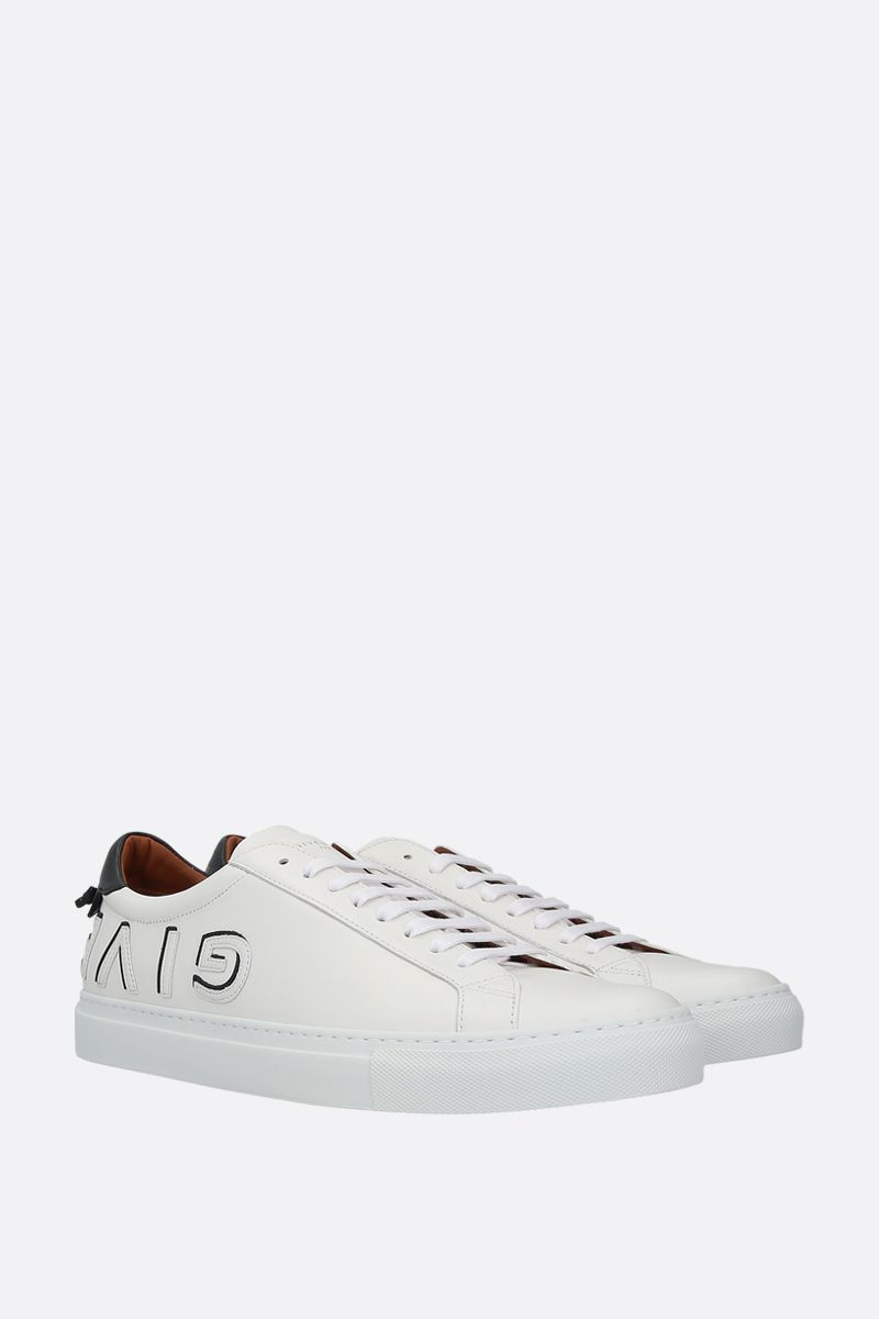 GIVENCHY: Urban Street smooth leather sneakers Color White_2
