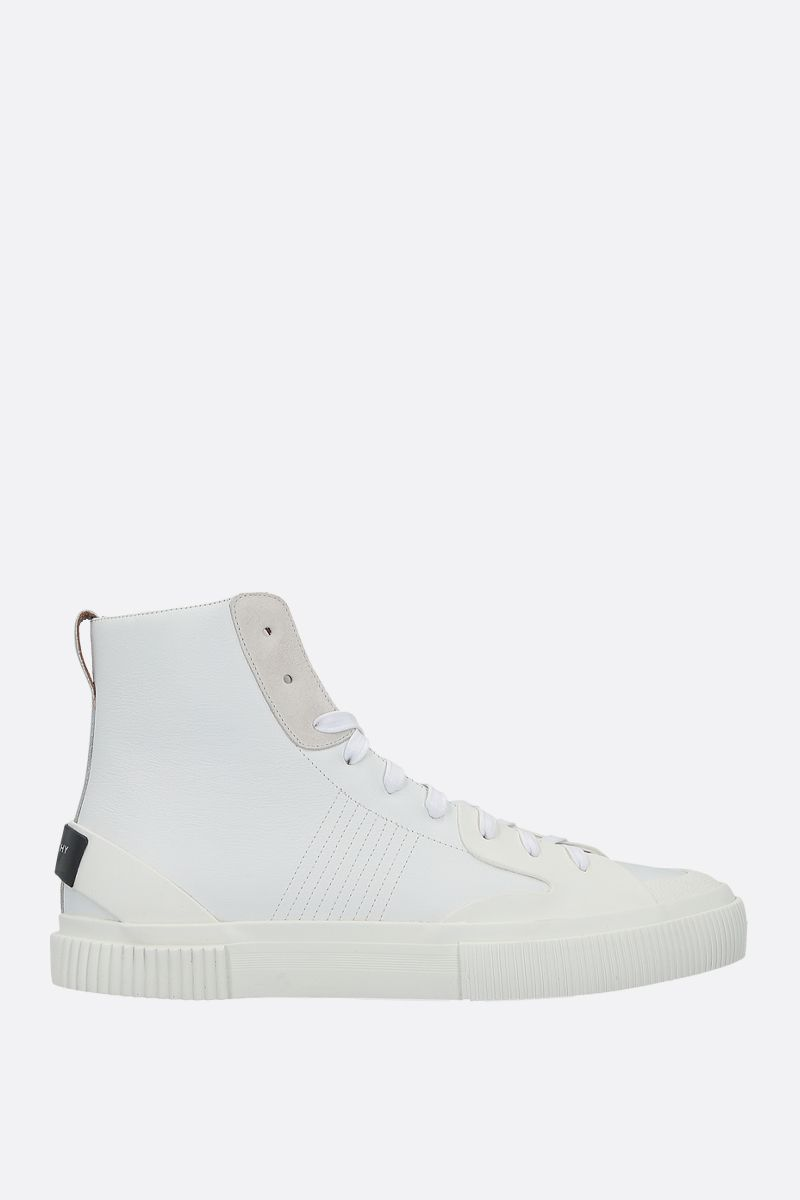 GIVENCHY: Tennis Light smooth leather and rubber sneakers Color White_1