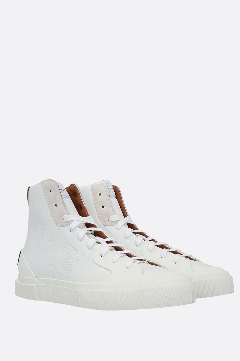 GIVENCHY: Tennis Light smooth leather and rubber sneakers Color White_2