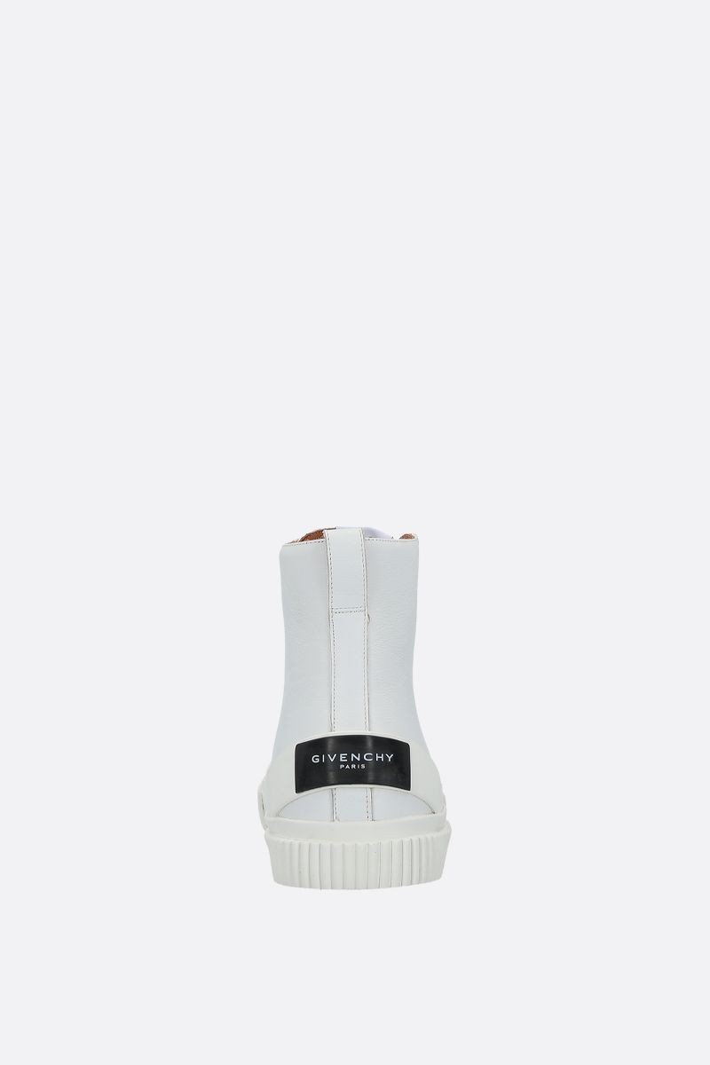 GIVENCHY: Tennis Light smooth leather and rubber sneakers Color White_3