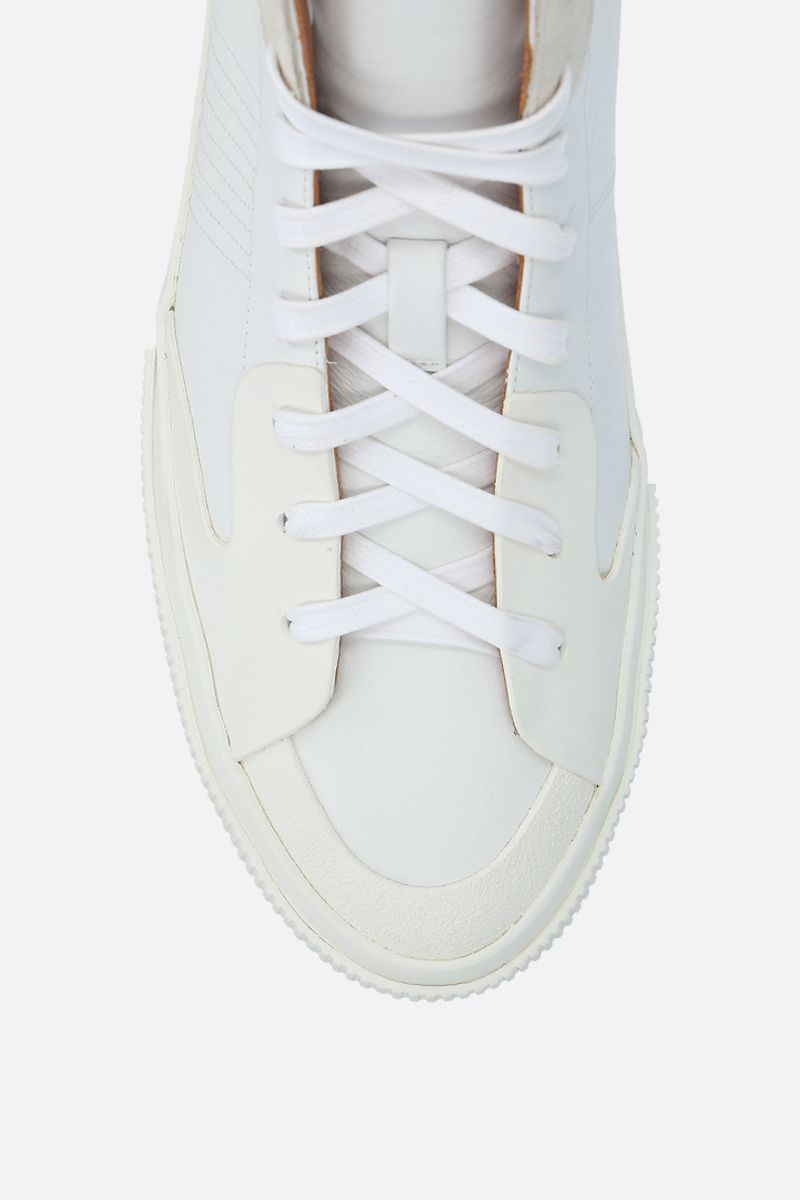 GIVENCHY: Tennis Light smooth leather and rubber sneakers Color White_4
